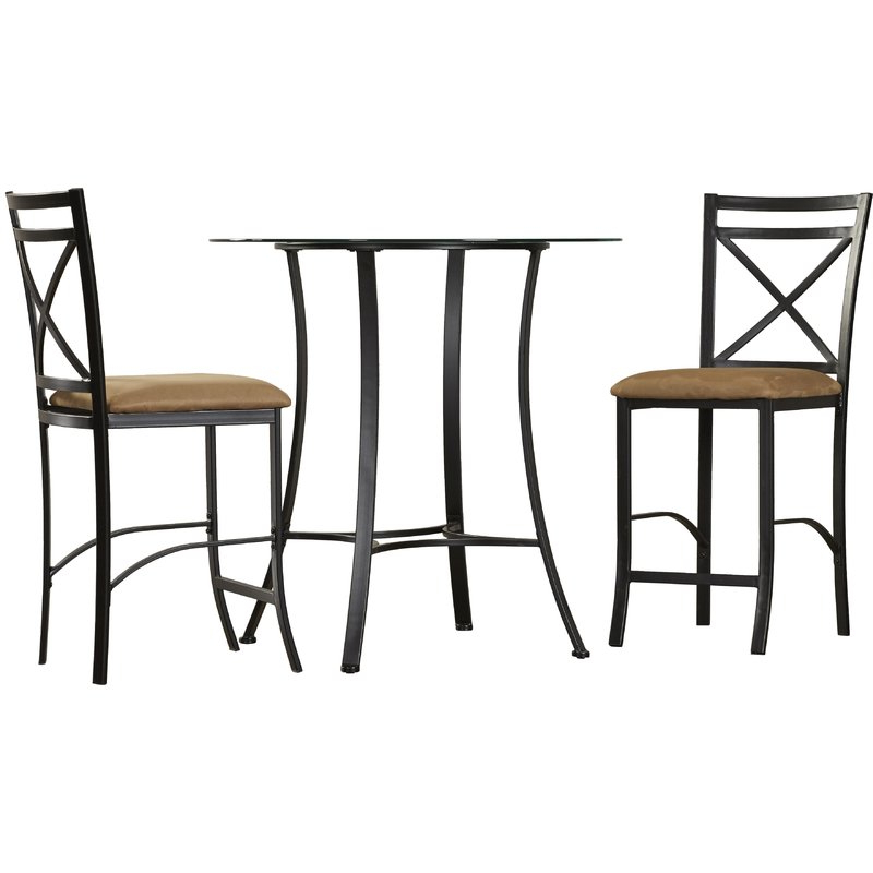 Nutter 3 Piece Dining Sets Inside Well Known Saleh 3 Piece Dining Set & Reviews (View 19 of 20)