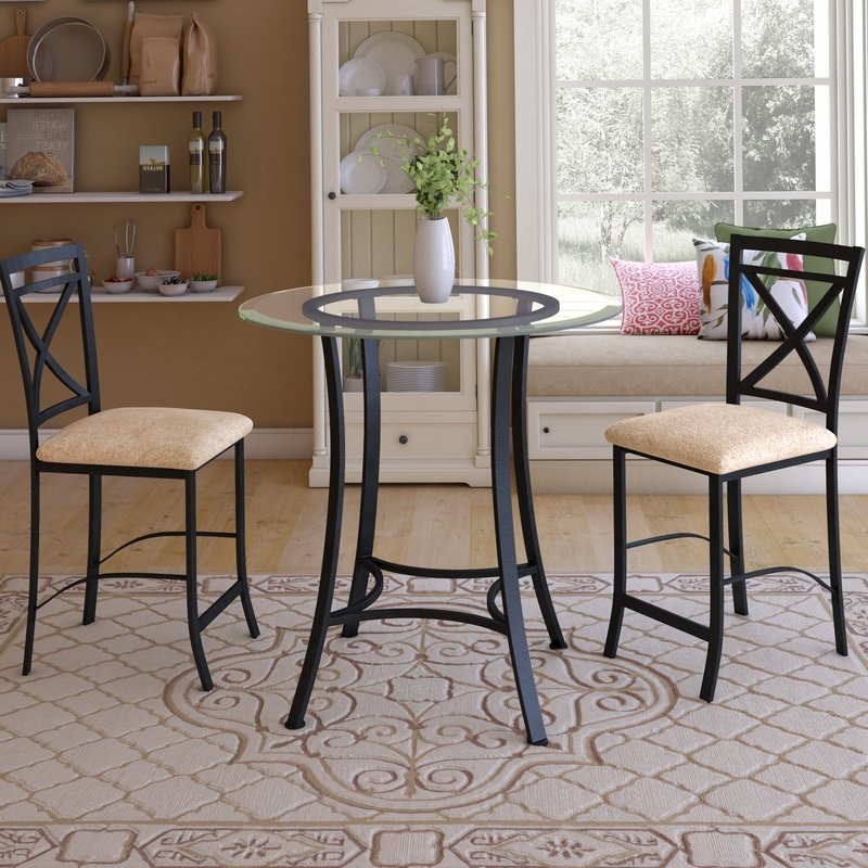 Nutter 3 Piece Dining Sets With Best And Newest Saleh 3 Piece Dining Set & Reviews (View 14 of 20)