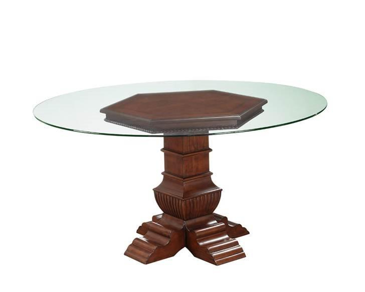 Oasis Home Casa Del Mar 5 Piece Pedestal Glass Top Dining Set For Most Up To Date Delmar 5 Piece Dining Sets (Gallery 19 of 20)