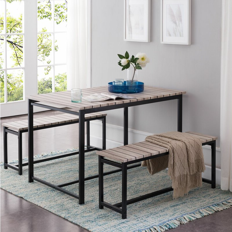 Partin 3 Piece Dining Sets Inside Most Popular Union Rustic Templeton 3 Piece Dining Set (View 15 of 19)