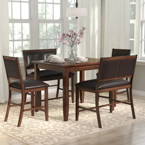 Penelope 3 Piece Counter Height Wood Dining Sets For Well Known Handys Penelope 3 Piece Counter Height Wood Dining Set (View 9 of 20)