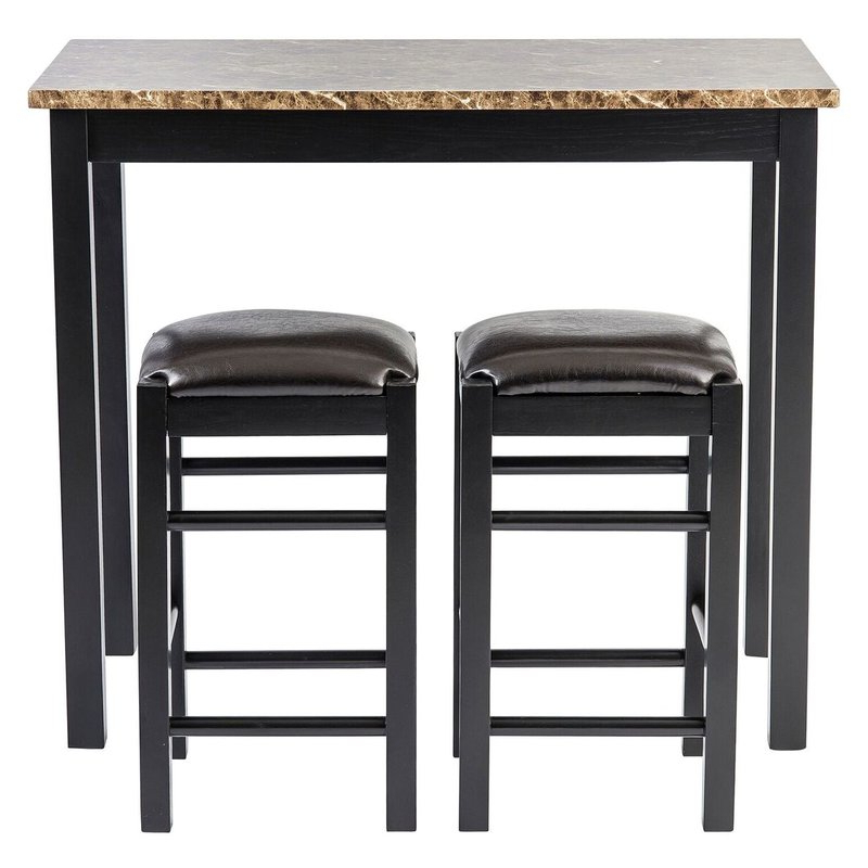 Penelope 3 Piece Counter Height Wood Dining Sets Intended For Most Up To Date Winston Porter Moorehead 3 Piece Counter Height Dining Set & Reviews (View 11 of 20)
