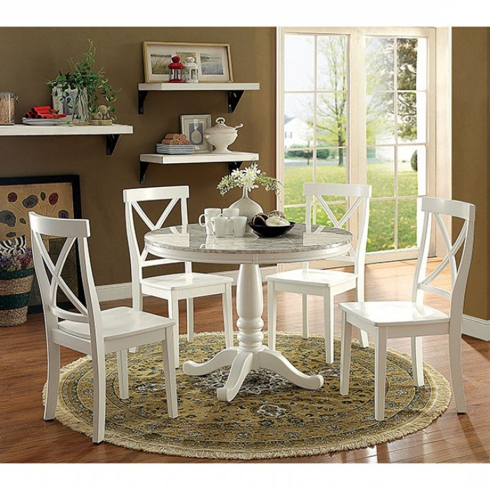 Penelope 3 Piece Counter Height Wood Dining Sets Intended For Well Liked Penelope 5 Piece Round Table Dining Room Setfurniture Of (Gallery 13 of 20)