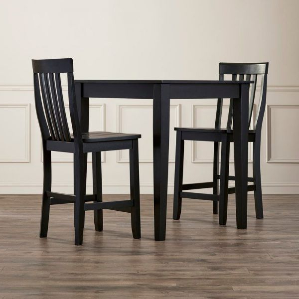 Pittman 3 Piece Pub Table Set #kitchencornertablesets For Favorite Weatherholt Dining Tables (View 11 of 20)