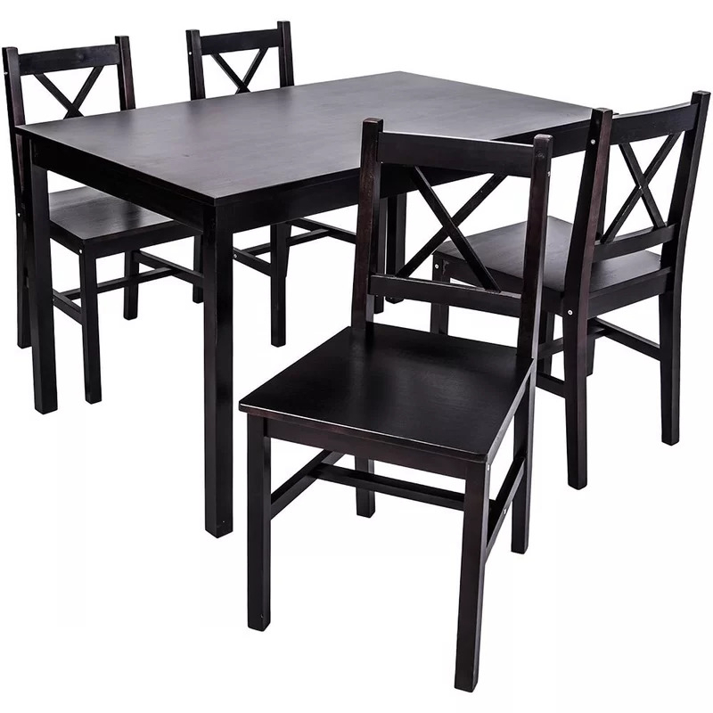 Popular Brand New In Box* Table Only Dennie Solid Wood Diningwinst For Winsted 4 Piece Counter Height Dining Sets (View 16 of 20)