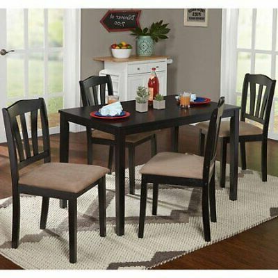 Popular Dining Set With Table 4 Chairs Stable Kitchen Furniture Diy 5 Pieces In Tavarez 5 Piece Dining Sets (View 9 of 20)