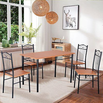 Popular Dining Set With Table 4 Chairs Stable Kitchen Furniture Diy 5 Pieces Within Tavarez 5 Piece Dining Sets (View 17 of 20)
