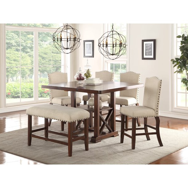 Popular Hood Canal 3 Piece Dining Sets In 1 Aguero 7 Piece Counter Height Extendable Solid Wood Pub Table Set (View 11 of 20)