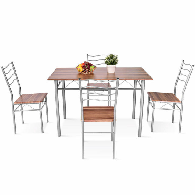 Popular Miskell 3 Piece Dining Sets Within Winston Porter Miskell 5 Piece Dining Set (View 8 of 20)