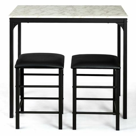 Popular Winston Porter Miskell 3 Piece Dining Set (View 11 of 20)
