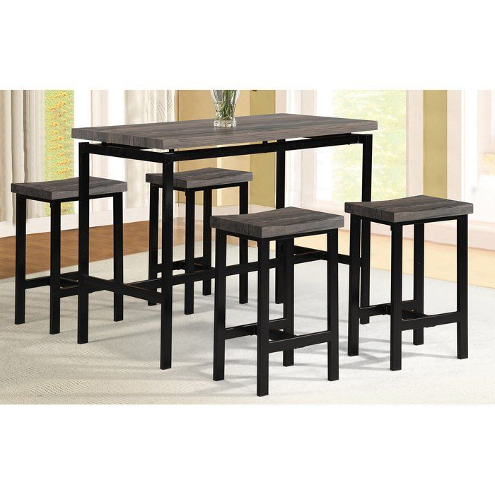 Preferred 5 Piece Breakfast Nook Dining Sets Throughout Denzel 5 Piece Counter Height Breakfast Nook Dining Set In (View 15 of 20)