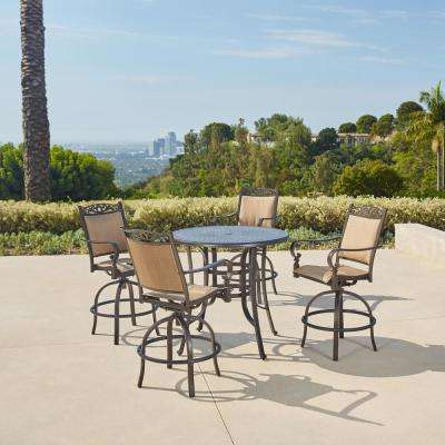 Preferred Aria 5 Piece Dining Sets Within Patio Dining Sets – Patio Dining Furniture – The Home Depot (View 19 of 20)
