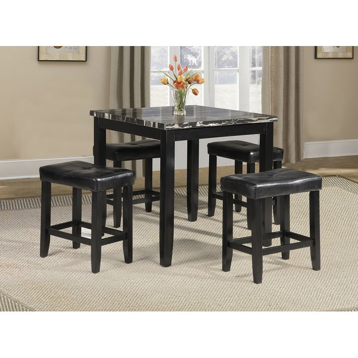 Preferred Denzel 5 Piece Counter Height Breakfast Nook Dining Sets Within Winston Porter Rayle 5 Piece Counter Height Dining Set & Reviews (Gallery 8 of 20)
