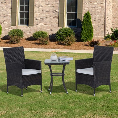 Preferred Kinsler 3 Piece Bistro Sets Within Sol 72 Outdoor Kinsler 2 Seater Bistro Set With Cushions In  (View 12 of 20)