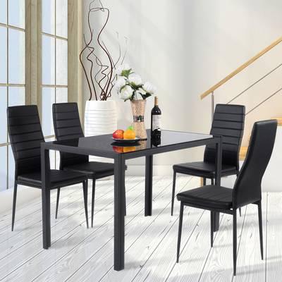 Preferred Lamotte 5 Piece Dining Sets Regarding Ebern Designs Lamotte 5 Piece Dining Set (View 2 of 20)