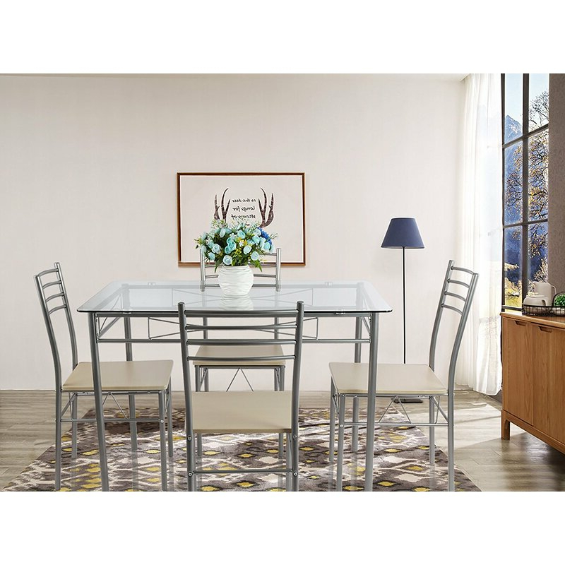 Preferred Liles 5 Piece Breakfast Nook Dining Sets In Ebern Designs Liles 5 Piece Breakfast Nook Dining Set & Reviews (View 19 of 20)
