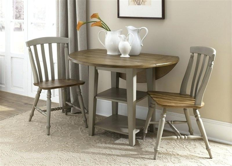Preferred Tappahannock 3 Piece Counter Height Dining Sets Inside 3 Piece Kitchen Table Set & (View 11 of 20)