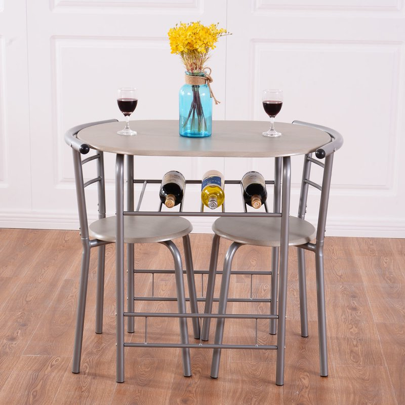 Preferred Winston Porter Strock 3 Piece Dining Set & Reviews (View 13 of 20)