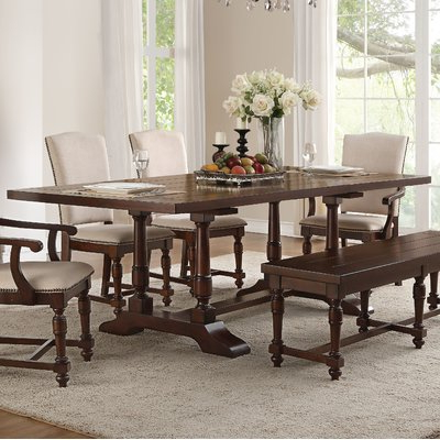 Products Intended For Popular Laconia 7 Pieces Solid Wood Dining Sets (Set Of 7) (View 13 of 20)