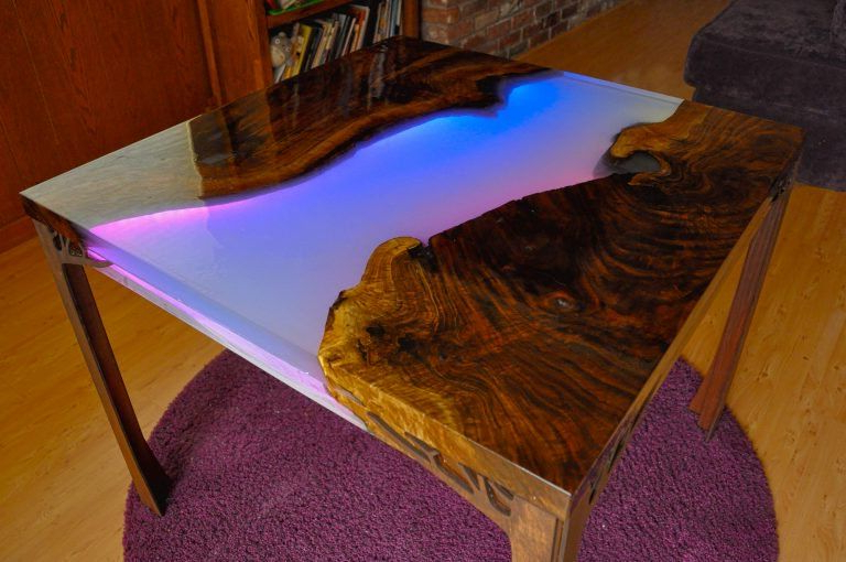 Rarick 5 Piece Solid Wood Dining Sets (Set Of 5) With Regard To Most Current New Guide: Make A Glowing Led Resin River Table (View 13 of 20)