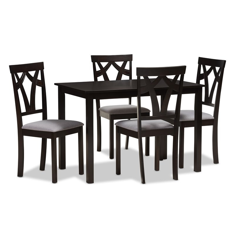 Recent 5 Piece Breakfast Nook Dining Sets In Red Barrel Studio Commodore Singh Modern And Contemporary 5 Piece (View 4 of 20)