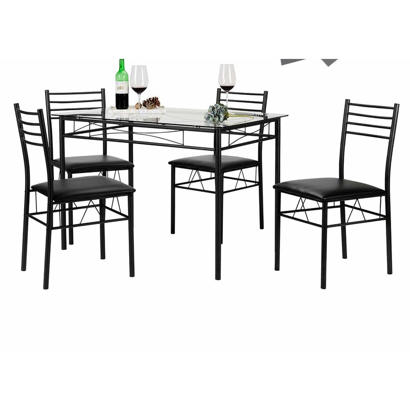 Recent Ebern Designs Lightle 5 Piece Breakfast Nook Dining Set & Reviews Throughout Lightle 5 Piece Breakfast Nook Dining Sets (Gallery 1 of 20)