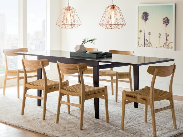 Recent Evellen 5 Piece Solid Wood Dining Sets (Set Of 5) With Modern & Contemporary Dining Room Sets (Gallery 12 of 20)