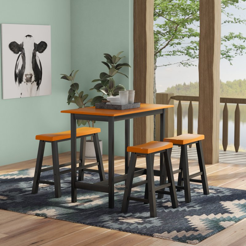 Recent Kerley 4 Piece Dining Sets In Loon Peak Kerley 4 Piece Dining Set & Reviews (Gallery 1 of 20)