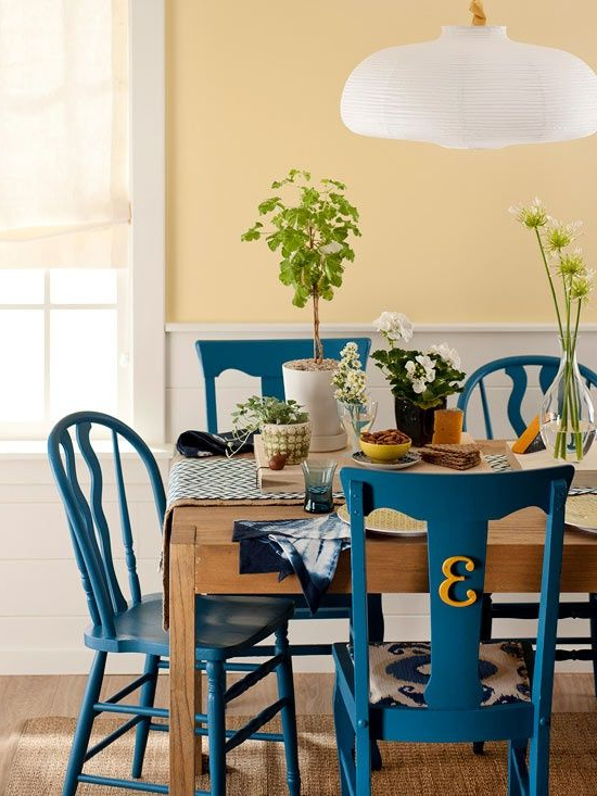 Recent Wallflower 3 Piece Dining Sets For Painted The Same Color, Mismatched Secondhand Dining Chairs Look (View 10 of 20)