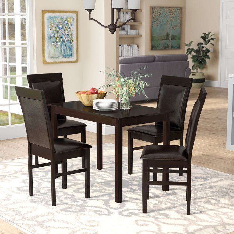 Red Barrel Studio Kisor Modern And Contemporary 5 Piece Breakfast Throughout Well Known 5 Piece Breakfast Nook Dining Sets (Gallery 6 of 20)