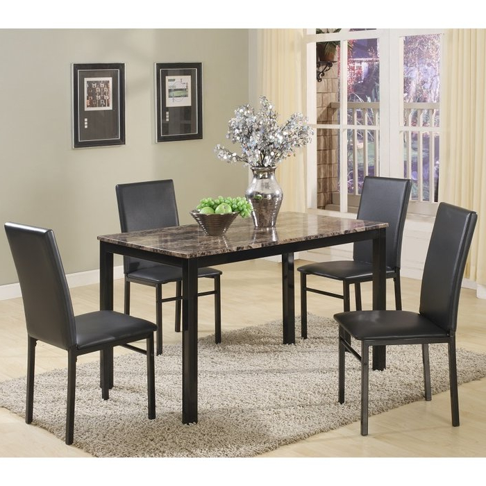 Red Barrel Studio Noyes 5 Piece Dining Set & Reviews (Gallery 1 of 20)