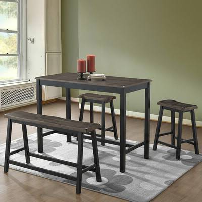 Red Barrel Studio Osterman 6 Piece Extendable Dining Set (View 13 of 20)