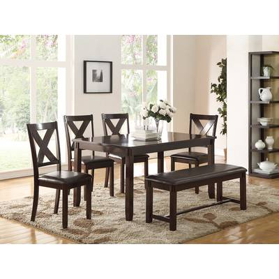 Red Barrel Studio Osterman 6 Piece Extendable Dining Set (Gallery 5 of 20)