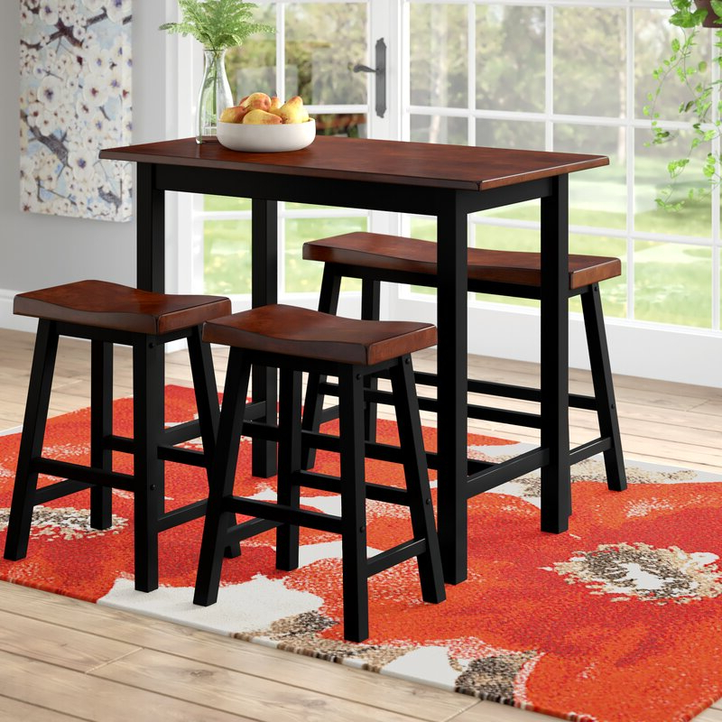 Red Barrel Studio Winsted 4 Piece Counter Height Dining Set In Most Up To Date Winsted 4 Piece Counter Height Dining Sets (View 2 of 20)