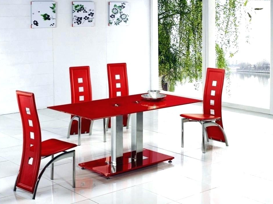 Red Dining Set Red Dining Room Sets Black And Red Dining Set Unique Throughout Widely Used Bate Red Retro 3 Piece Dining Sets (View 13 of 20)