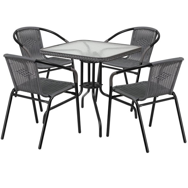 Rossi 5 Piece Dining Sets Throughout Most Recently Released Outdoor Dining Sets (View 16 of 20)