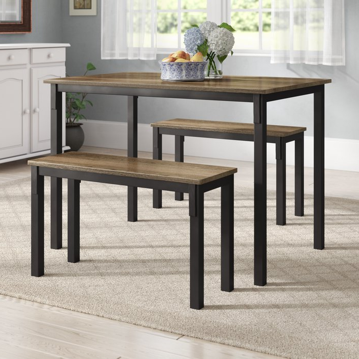 Rossiter 3 Piece Dining Sets With Regard To Latest Andover Mills Rossiter 3 Piece Dining Set & Reviews (View 2 of 20)