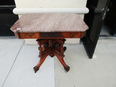 Sale* 19th Century Eastlake Aesthetic Victorian Tennessee Marble Regarding Newest Poynter 3 Piece Drop Leaf Dining Sets (View 16 of 20)