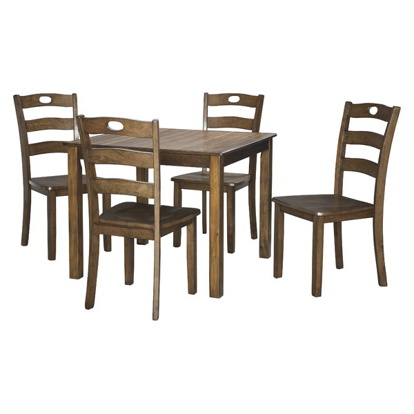 Sectionals Pertaining To 2020 Goodman 5 Piece Solid Wood Dining Sets (Set Of 5) (View 15 of 20)