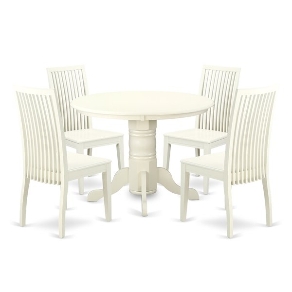 Sherlock 5 Piece Breakfast Nook Solid Wood Dining Setaugust Intended For 2019 Mulvey 5 Piece Dining Sets (View 4 of 20)