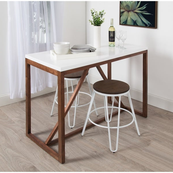 Shop Kate And Laurel Kaya Counter Height Pub Table – 48X24X36 – Free Inside 2019 Kaya 3 Piece Dining Sets (View 14 of 20)