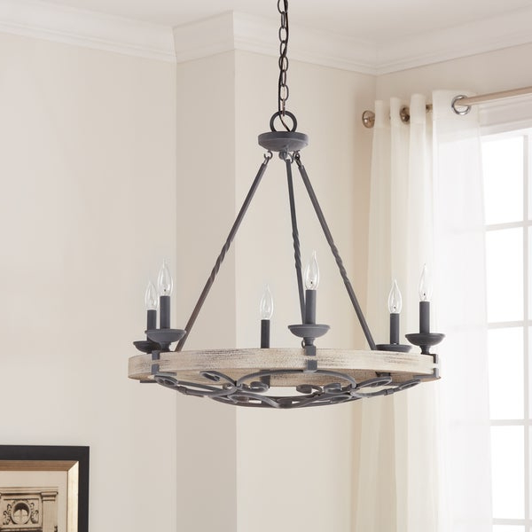 Shop Kichler Lighting Taulbee Collection 6 Light Weathered Zinc Regarding Most Recently Released Taulbee 5 Piece Dining Sets (View 14 of 20)