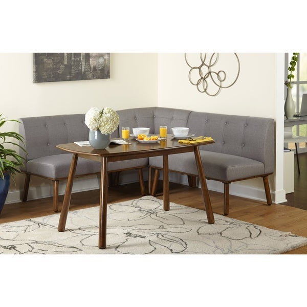 Shop Simple Living 4 Piece Playmate Nook Dining Set – Free Shipping Regarding Most Current Maloney 3 Piece Breakfast Nook Dining Sets (Gallery 11 of 20)