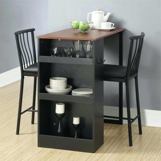Small 3 Piece Dining Set Details About Bistro 3 Piece Dining Set For Popular Debby Small Space 3 Piece Dining Sets (View 16 of 20)