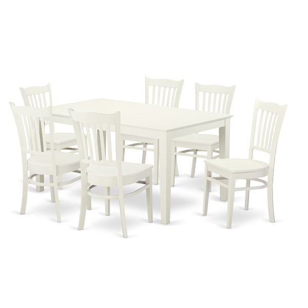 Smyrna 7 Piece Solid Wood Dining Setcharlton Home 2019 Coupon On With Recent Smyrna 3 Piece Dining Sets (View 13 of 20)