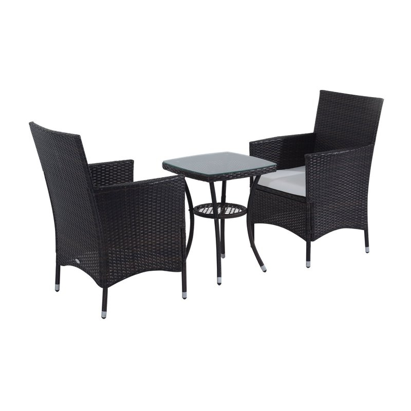 Sol 72 Outdoor Kinsler 2 Seater Bistro Set With Cushions & Reviews Within Most Popular Kinsler 3 Piece Bistro Sets (View 14 of 20)