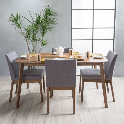 Solid Wood Dining Set, 5 (Gallery 5 of 20)