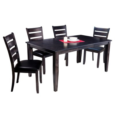Solid Wood Dining Within Famous Adan 5 Piece Solid Wood Dining Sets (Set Of 5) (Gallery 6 of 20)