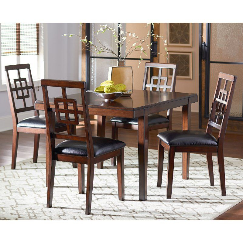 Standard Furniture Ally 5 Piece Dining Table Set – Golden Brown Inside Well Liked Baxton Studio Keitaro 5 Piece Dining Sets (View 20 of 20)