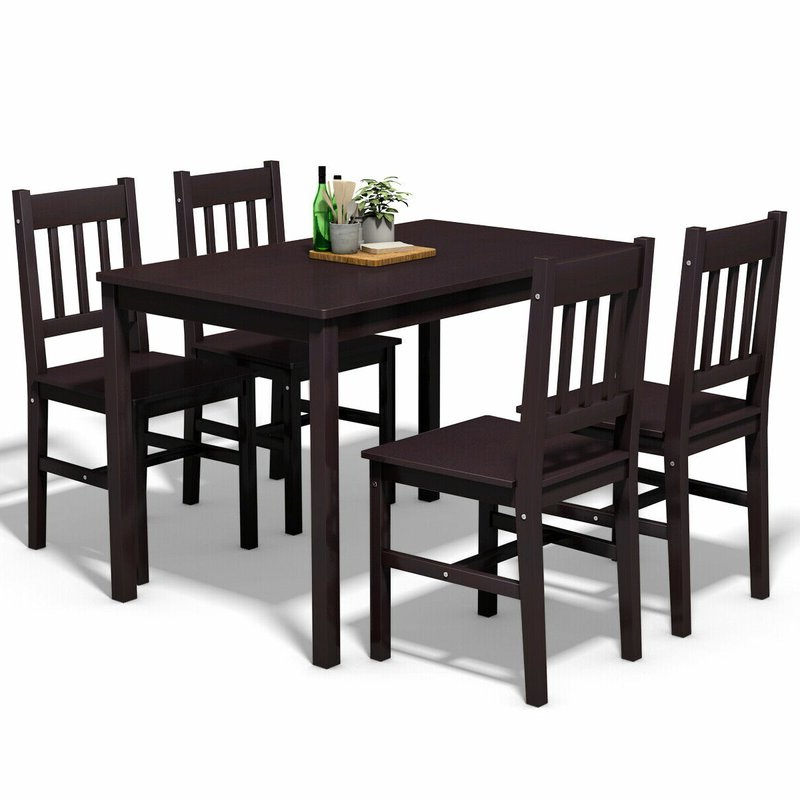 Sundberg 5 Piece Solid Wood Dining Sets With Regard To Preferred Winston Porter Sundberg 5 Piece Solid Wood Dining Set & Reviews (Gallery 1 of 20)